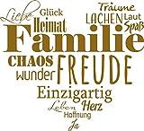 GRAZDesign 300207_30_WT092 Wandtattoo Familien - Tattoo als Herz an die Wand - Wand-Deko für Wohnzimmer/Schlafzimmer / Küche (33x30cm // 092 Kupfer)