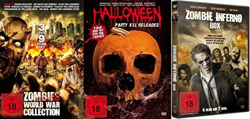 WEEN & ZOMBIE Box Collection FRIGHT NIGHT - NIGHT OF THE LIVING DEAD - VAMPIRE HUNTER - CARNIVAL OF SOULS Splatter Zombies Dämonen Kult & Klassiker DVD ()