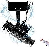 WUZHENG Proiettore di GOBO con Logo HD LED 35W Proiettore di Luce con Logo Personalizzato per Illuminazione Interna Ed Esterna di Feste, Matrimonio, Matrimonio DJ, Negozio,Black,Outdoor