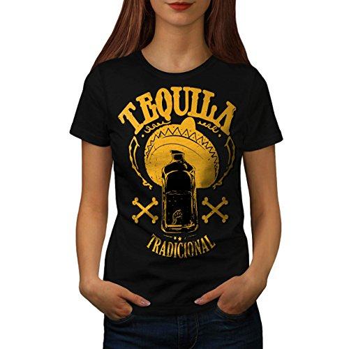 Kostüm Reißverschluss Gesicht Der Bilder (Tequila traditionell Mexiko Getränk Damen M T-shirt |)