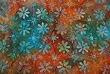 Handgefärbte Batik aus Indonesien / 'Flowers' COL C / 100%