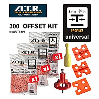 ATR Tile Leveling Alignment System DIY Kit 3mm T Shape Walls & Floors Spacers by ATR Resolution