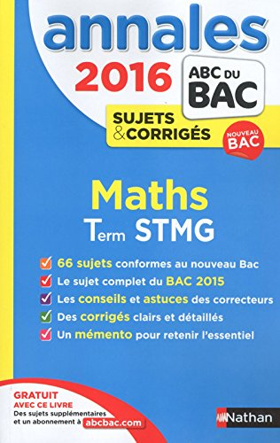 Annales ABC du BAC 2016 Maths Term STMG