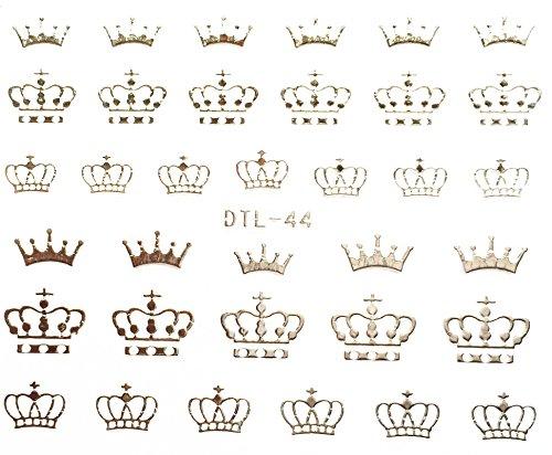 Nail Art Nass Abziehbilder Nagel Aufkleber Nail Art 3D sticker Aufkleber Krone - DTL044 Nail Sticker Tattoo - ()