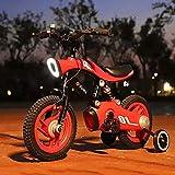 KY Vélo Enfants 18 '' 21 '' Moto Enfants Enfants Stabilisateurs Vélo Poussette 4 Roues (Color : Orange, Size : 18inch)