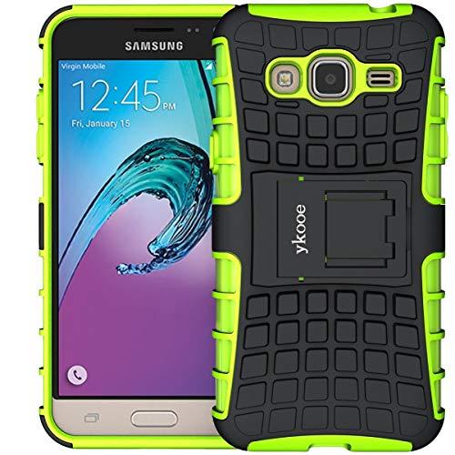 ykooe Handyhülle kompatibel für Galaxy Grand Prime Hülle, (TPU Series) Drop Resistance Handys Schutz Hülle mit Ständer für Grand Prime (Grün)