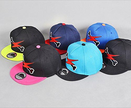 belsen Enfant os de flash Hip Hop Casquette de baseball Casquette Chapeau bleu ciel