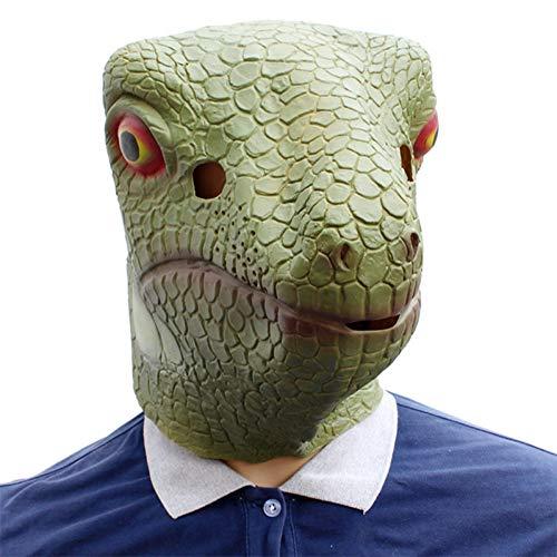 Kostüm Für Erwachsene Gecko - FLTVSN Halloweenmaske Eidechse Gecko Kreative lustige Latexmasken Unisex Film Cosplay Kostüm Requisite Erwachsene Tier Party Maske für Halloween