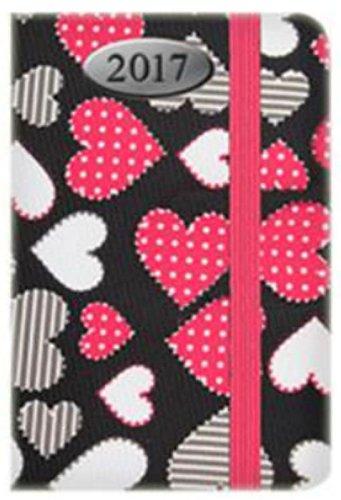 tallon-2017-agenda-de-poche-semainier-rembourre-dot-to-dot-coeur-tissu-motif-1847-noir