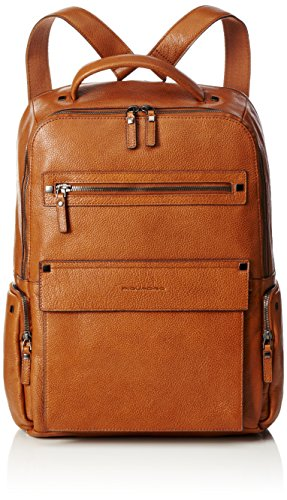 Piquadro Kolyma Backpack Casual, 42 cm, leather, tobacco