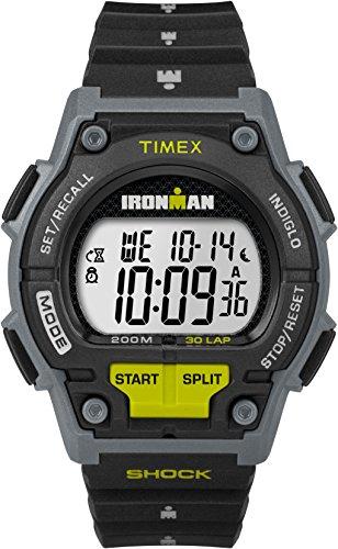 Timex TW5M13800 Montre à quartz pour homme, affichage numérique, bracelet en résine