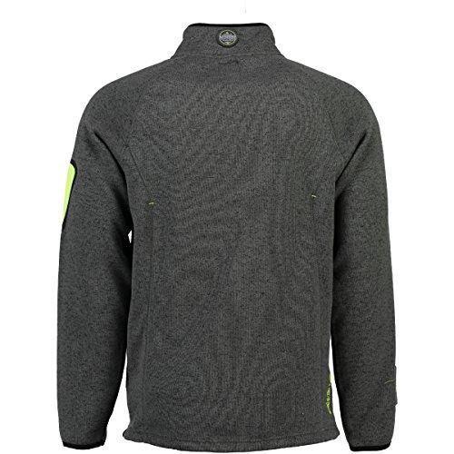 Geographical Norway warme Herren Sweat Fleece Jacke für Outdoor & Freizeit - Model TRIANGLE MEN 007 D.Grey