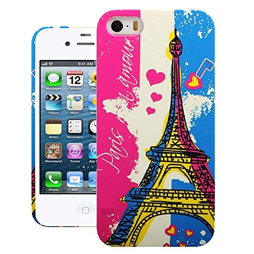 Heartly Tower Series Printed Design High Quality Hard Bumper Back Case Cover For Apple iPhone 4 4S 4G - Blue With Pink  available at amazon for Rs.239