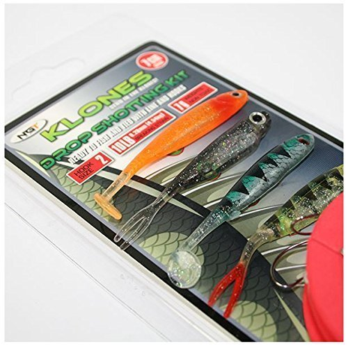 Klones Drop Shot Lure Fishing Kit 7g - Full Rig Included by NGT