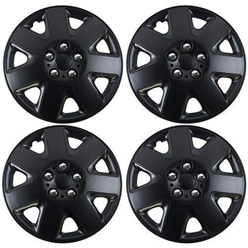 UKB4C 4 x Back Gloss Effect Wheel Trims Hub Caps 15