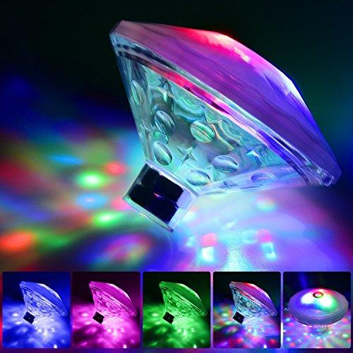 youtoo Partyszenario Beleuchtung Poolbeleuchtung LED Poolbeleuchtung 7 Modi Disco Beleuchtung Licht mit Multi Farbwechsel für Den Teich Pool Spa,Whirlpool, Party und Fest in Nacht