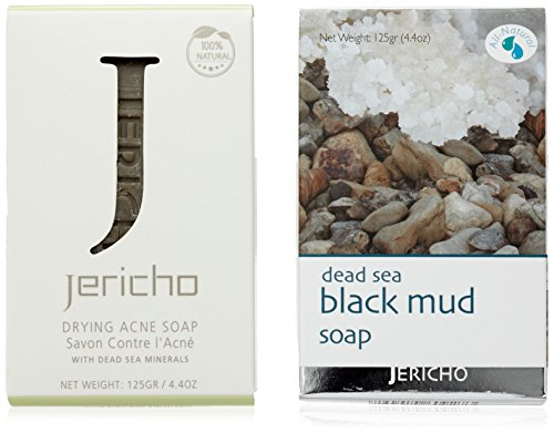 Veana la mer morte cosmétiques Lot : Noir boue Savon Plus anti acné savon, Lot de 1 paquet (1 x 2 pièce)
