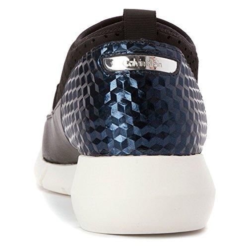 Calvin Klein WINONA Synthétique Mocassin Wht-Blk-Graphite