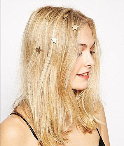 Yean Braut Haarspangen Vintage Star Hair Pins 5 Packs - Hochzeit Kopfschmuck für Frauen und Mädchen (Gold)
