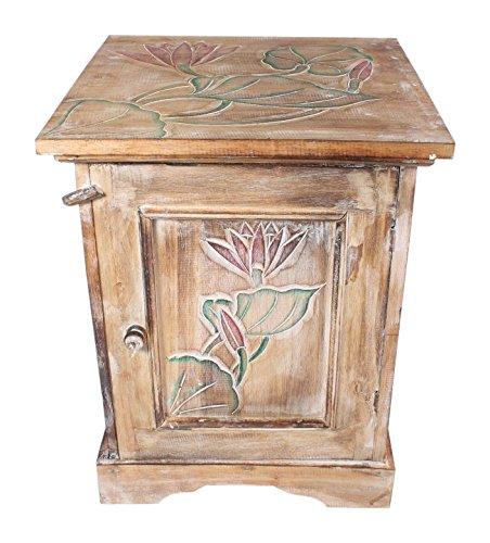 Holz-konsole Schrank (Regal Schrank Kommode aus Holz Beistelltisch 50 cm x 40 cm x 40 cm Telefontisch Konsole Nachttisch)