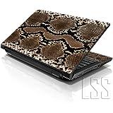 """LSS 15""""y 15,6pulgadas portátil notebook piel Sticker Cover Art vinilo para 13.3"""" 14""""15.6"""" 16""""HP Dell Lenovo Apple Asus Acer Compaq (libre 2muñeca incluye almohadilla de serpiente impresión)"""