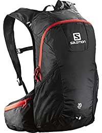Salomon Trail 20 - Mochila para running/montañismo unisex, 20L, 48x24x15 cm, negro/rojo