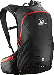 Salomon Lightweight Trail Unisex Outdoor Hiking Backpack Available In Blackred - 50 Litres