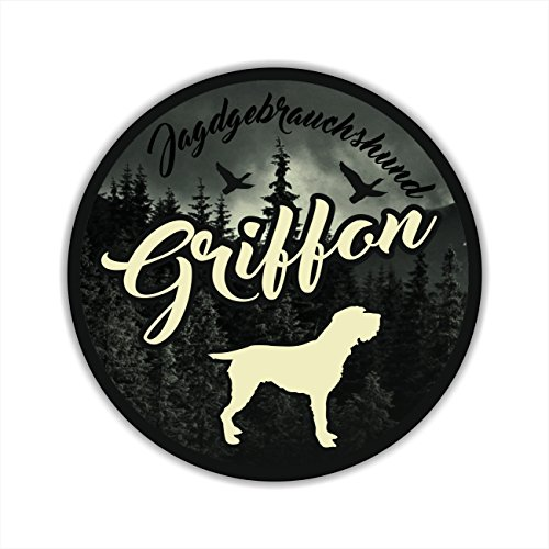 Auto Aufkleber JAGDHUND DIGI GRIFFON Hundeaufkleber Siviwonder Jagd (Jagd Jagdhunde)