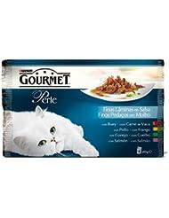 Purina Gourmet Perle Finas Láminas comida para gatos en Salsa Surtido de Carnes 4 x 85 g