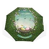 Le pieghe dell'ombrello 3 personalizzano il peso leggero antivento anti-UV dello specchio della prateria