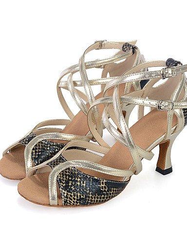 La mode moderne Sandales Chaussures de danse pour femmes personnalisable similicuir Talon évasé de l'Amérique latine US8.5/EU39/UK6.5/CN40