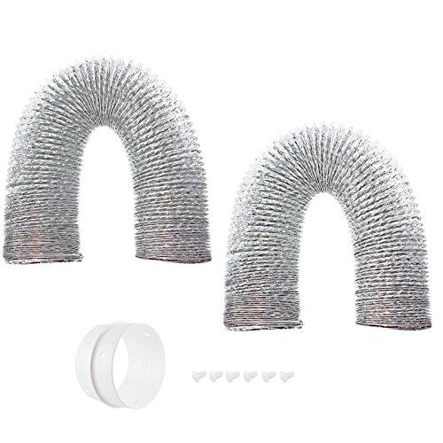 spares2go Universal 3M Aluminium Flexible Trockner Vent Schlauch Auspuff (10,2cm/100mm) 2Stück -