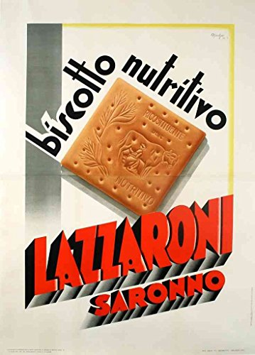 metal-sign-lazzaroni-biscuit-italian-art-deco-marchesi-1-1930s-a4-12x8-aluminium