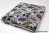 5Yard Batik Floral Print Baumwolle Stoff von Garten,