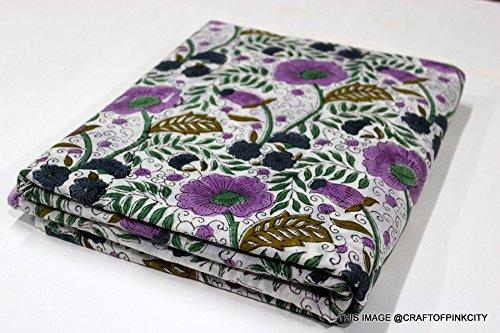 5Yard Batik Floral Print Baumwolle Stoff von Garten, natürliche Farbstoffe Sanganeri Überwurf indische Baumwolle Stoff, Stoff, Afrikanisches Figur Print Stoff -