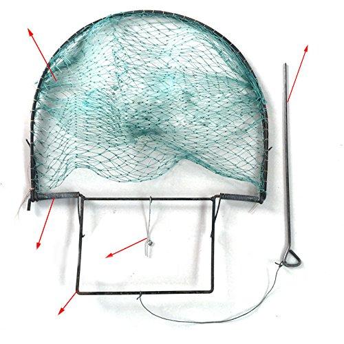 Zantec Rete per Uccelli Pieghevole Pieghevole Bird Net Humane Live Trap Sparrow Pigeon Quaglia Caccia Mesh Tools