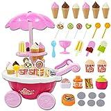 Fansport Kinder vorgeben Spielen Spielzeug Set Musik Beleuchtung Eis Candy Trolley Karren Lebensmittel Spielzeug pädagogisches Spielzeug
