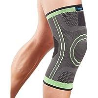 Actesso Grün Knie-Stützstulpe Kniebandage - Elastische Kompression zur Schmerzlinderung während sportlicher Aktivitäten... preisvergleich bei billige-tabletten.eu