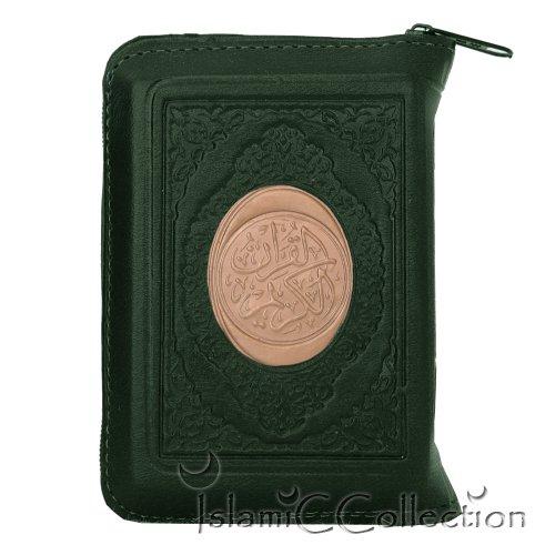 Taschen Reise Koran Qur'an Quran Etui GRÜN Arabisch Muslim Islam 31-0035-04
