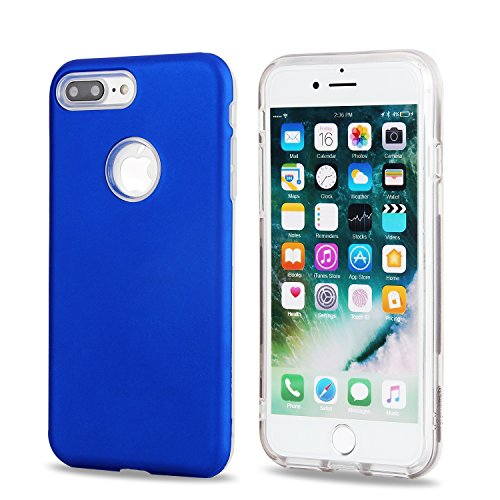 EKINHUI Case Cover Ultra Thin Lightweight Dual Layer Hybrid Schützende Back Cover Stoßfänger für iPhone 7 Plus ( Color : Mint green ) Royalblue