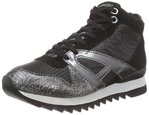 ApepazzaDANIELA MATERIALMIX - Sneaker donna , Nero (Schwarz (NERO/PIOMBO)), 37