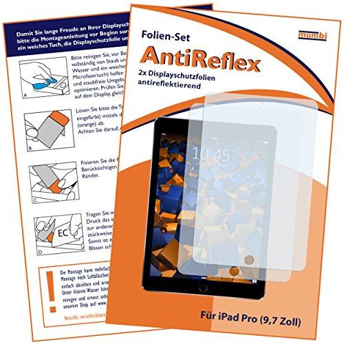 mumbi Schutzfolie kompatibel mit Apple iPad Pro 9,7 Zoll Folie matt, Bildschirmschutzfolie (2x)