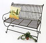 DanDiBo Gartenbank aus Metall Braun 2-Sitzer Finca 100 cm Bank Garten Sitzbank Wetterfest Eisen