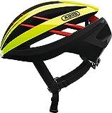 Abus Aventor-D1-Casco de Ciclismo, Todo el año, Unisex, Color Amarillo neón, tamaño Medium