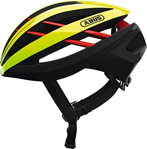Abus Aventor Fahrradhelm, neon Yellow, L