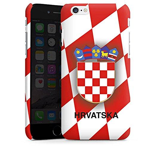 Apple iPhone X Silikon Hülle Case Schutzhülle Kroatien EM Trikot Fußball Europameisterschaft Premium Case matt
