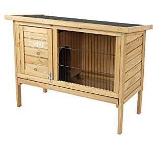 hasenstall kaninchenstall stella aus massivem tannen holz in 92x45x70 cm kleintier stall f r. Black Bedroom Furniture Sets. Home Design Ideas