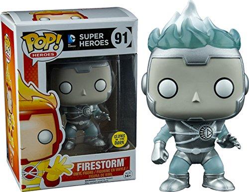 Funko - Figurine Dc Comics White Lantern - Firestorm Glow In The Dark Exclu pop 10cm - 0889698105095
