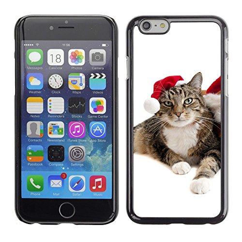 GooooStore/Housse Etui Cas Coque - Cat Christmas Elf Mongrel Blue Eyes Photo - Apple Iphone 6 Plus 5.5