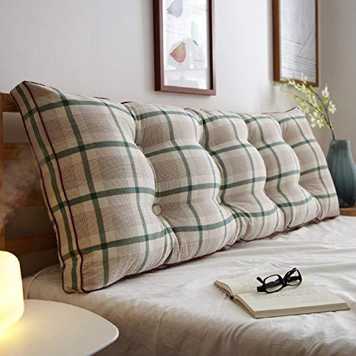 LYRYIH 100% Baumwolle Bett Lesen Kopfkissen,doppelzimmer Weiche Walze Herausnehmbaren Polsterung Aus Dem Bett Rückenpolster Tatami-matten Lange Kissen Bedside Kissen-n 150x20x50cm(59x8x20inch)
